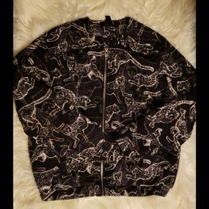 Jaguar printed black bomber jacket